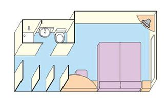 P&O Outside Cabin Layout