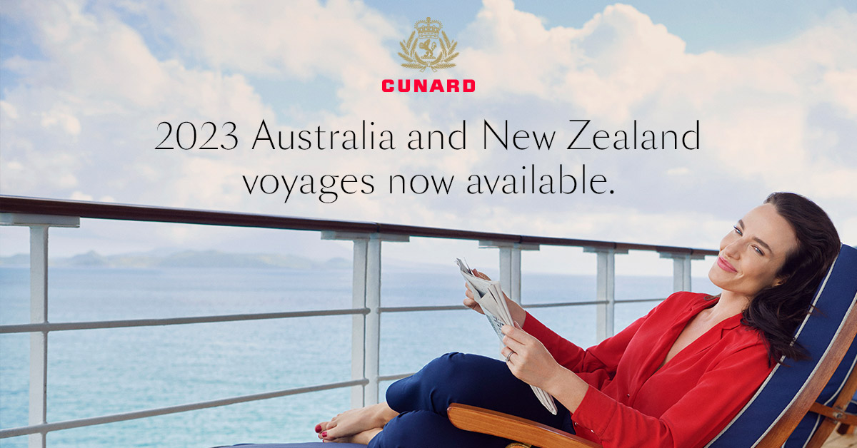 Cunard Cruises 2022/23 Program Release